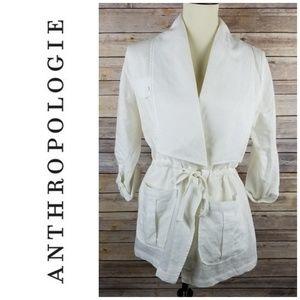 Anthropologie En Creme Linen Jacket!